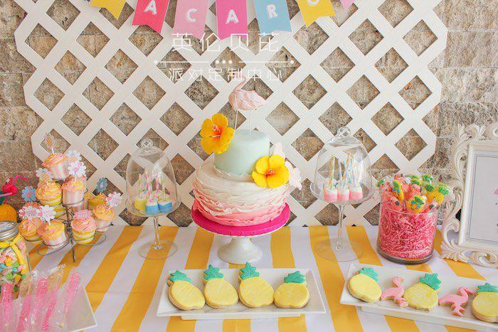 菠萝主题生日派对