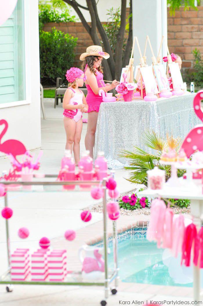 泳池绘画生日派对