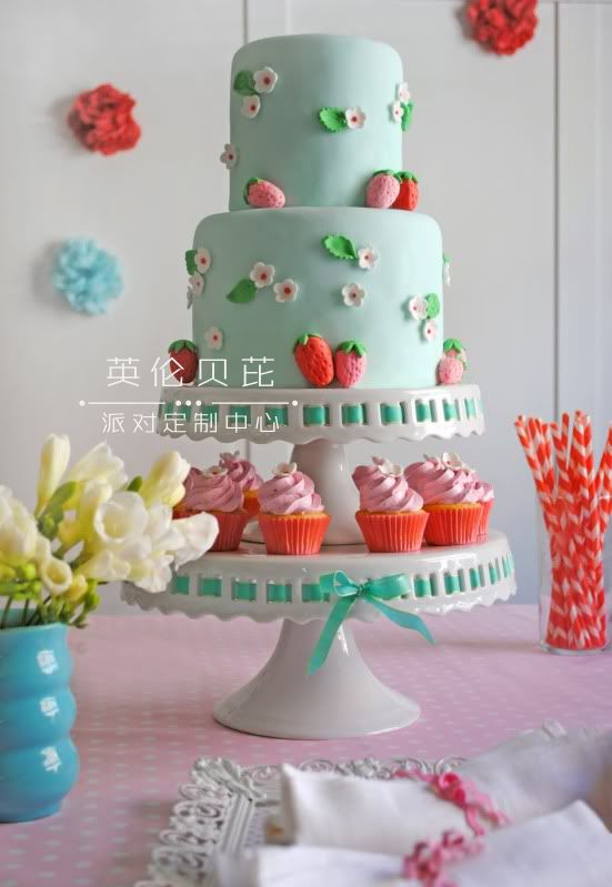 草莓主题生日派对