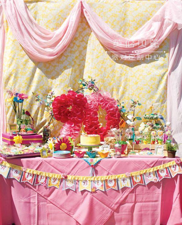 甜蜜多彩花园主题生日派对