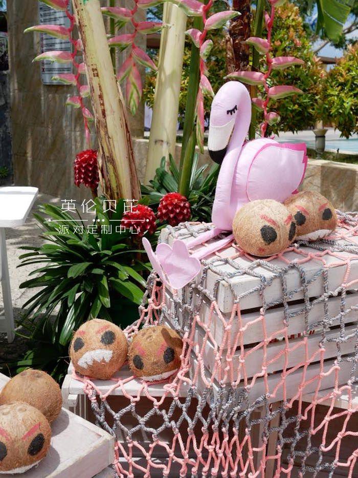 Kakamora Coconuts from a Moana Birthday Party Luau on Kara