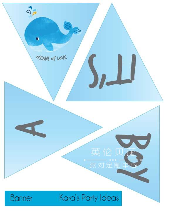 """Free baby shower printables blue whale """"It"""