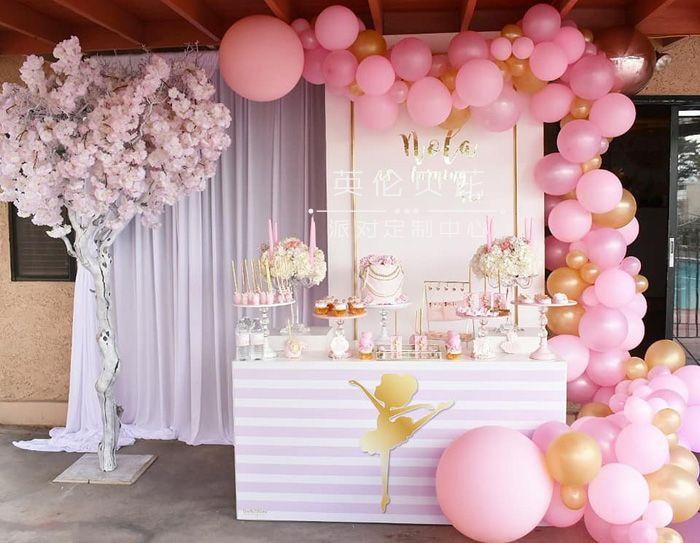 粉红芭蕾舞演员生日派对