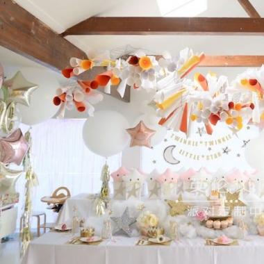 闪烁小星星主题10岁生日派对