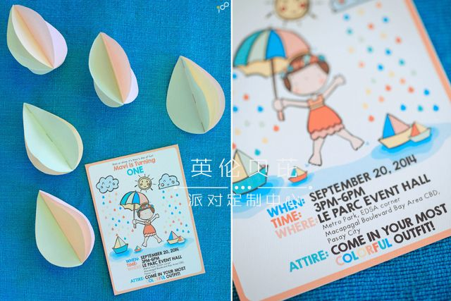 Happy Clouds and Raindrops Party - 01