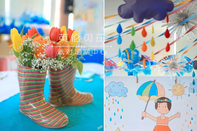 Happy Clouds and Raindrops Party - 06