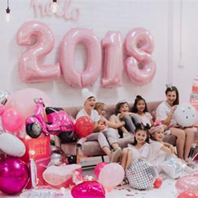 粉色温馨主题新年派对,一起来玩耍!