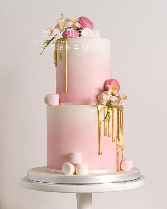 生日蛋糕:超美的粉色裱花生日蛋糕分享