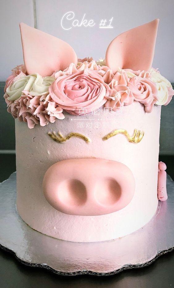 生日蛋糕:小猪主题派对蛋糕分享