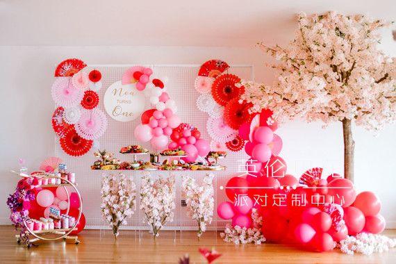 樱花主题日式周岁生日party