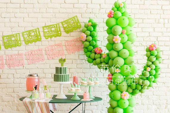 仙人掌主题的儿童生日party