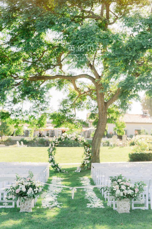 优雅的花园婚礼派对