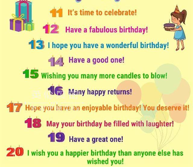 生日快乐英文祝福语
