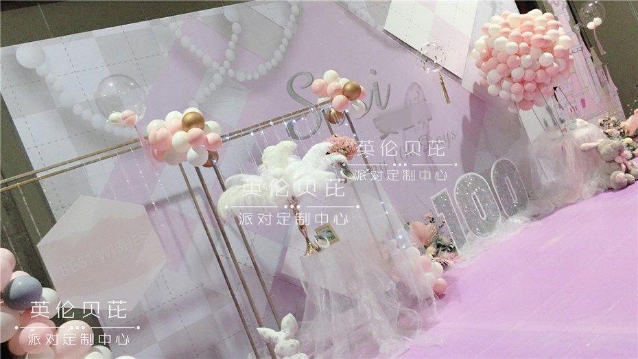 粉色Dior城堡主题宝宝宴