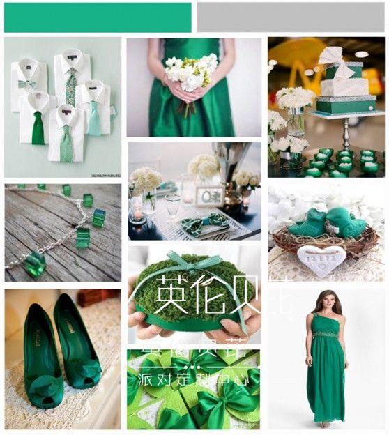 祖母绿海外婚礼婚品设计