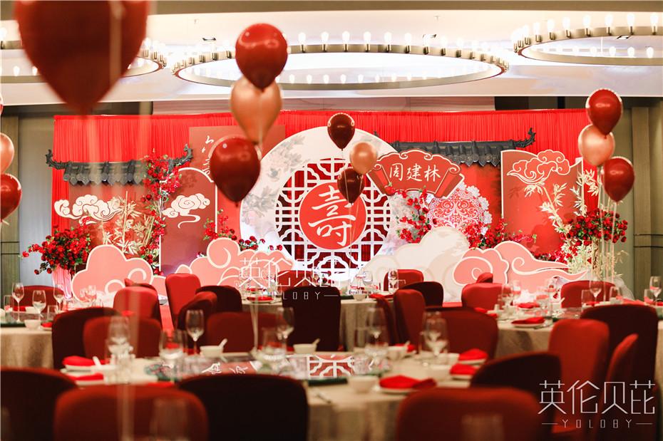 红色中式六十岁寿宴