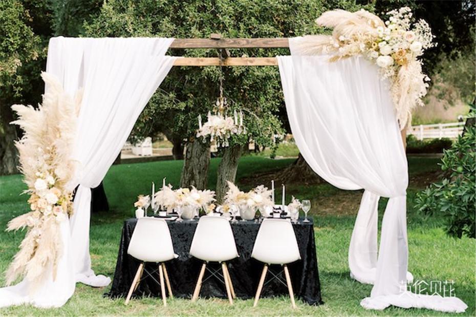 黑色时尚又前卫的婚礼