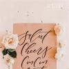 粉红色的现代婚礼布置