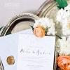适合春季的蓝橙色系婚礼