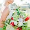 充满活力的热带珊瑚婚礼