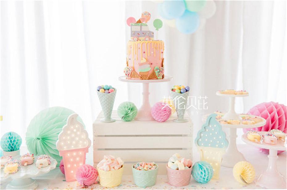 冰淇淋儿童生日派对