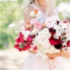 明亮的花园婚礼
