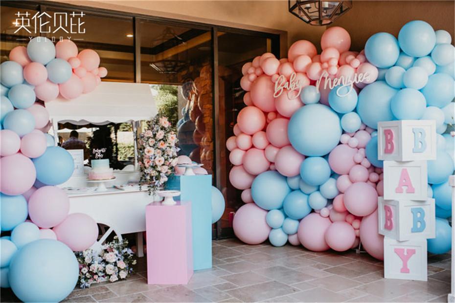 蓝粉色系宝宝宴