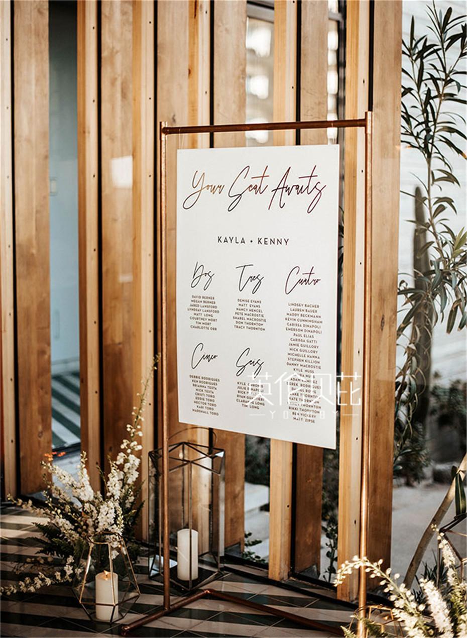 婚庆公司向你推荐大火的亚克力婚礼标牌