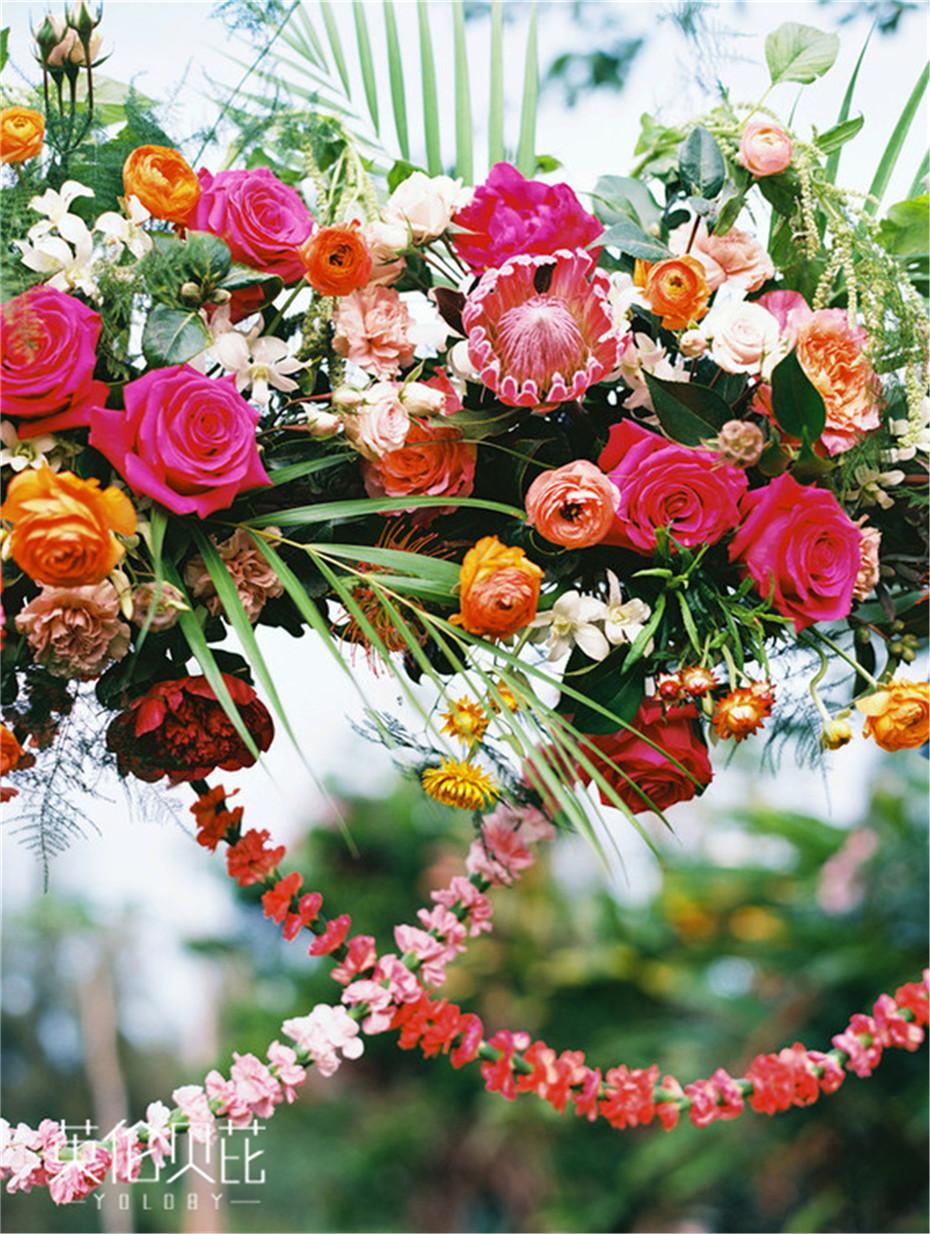 婚庆公司举办的波西米亚风婚礼仪式